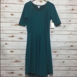 LuLaRoe Nicole Dress Short Sleeve Midi NWT